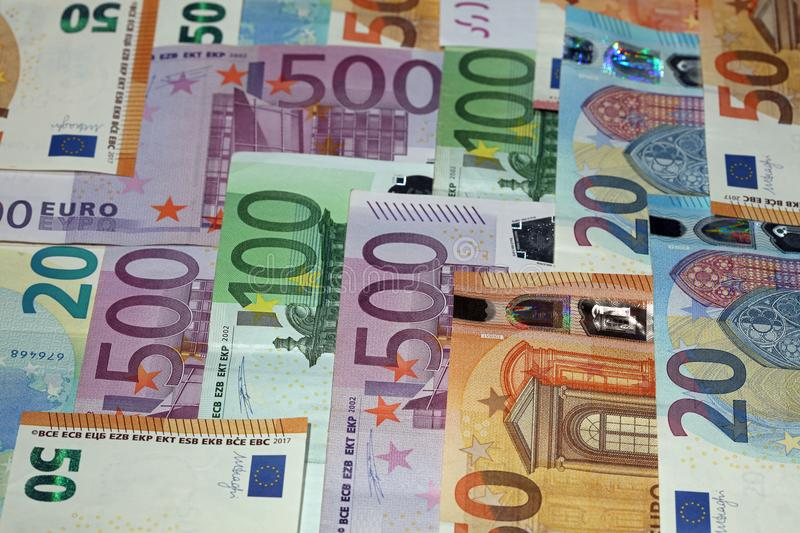 Different Euro Banknotes royalty free stock photos