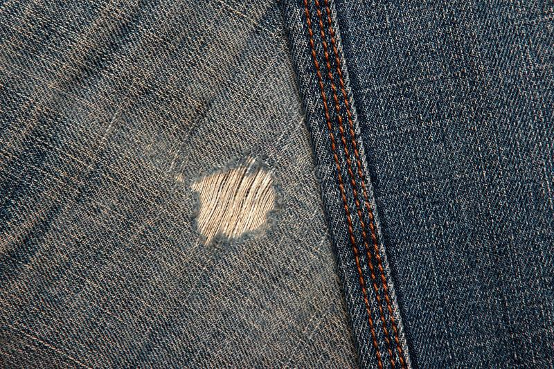 Different fabric texture denim pants. The different fabric texture denim pants royalty free stock image