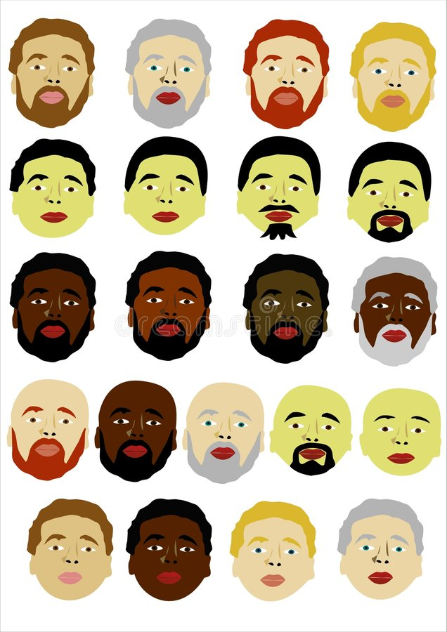 Download Different faces of men stock vector. Image of head, faces - 5981306