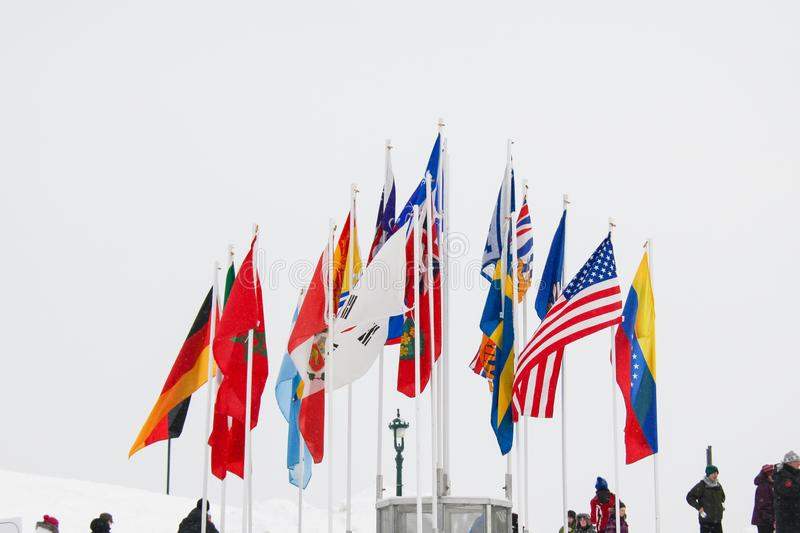 Different flag of the world stock photo