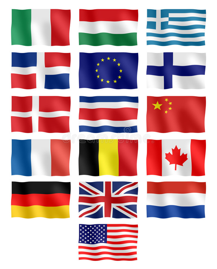 Different flags vector illustration