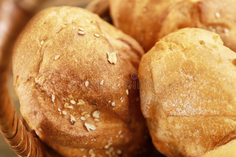 Different fresh bread loaves royalty free stock photos