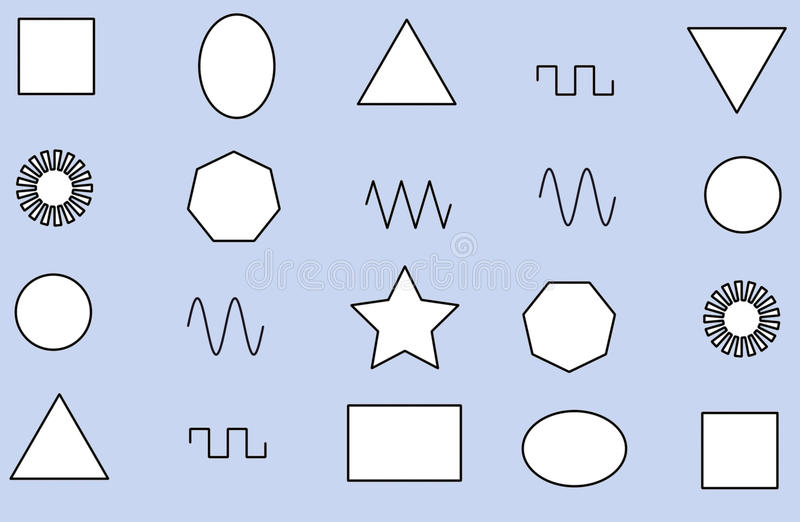 Download Different Geometric Shapes stock illustration. Image of polygon - 69420816
