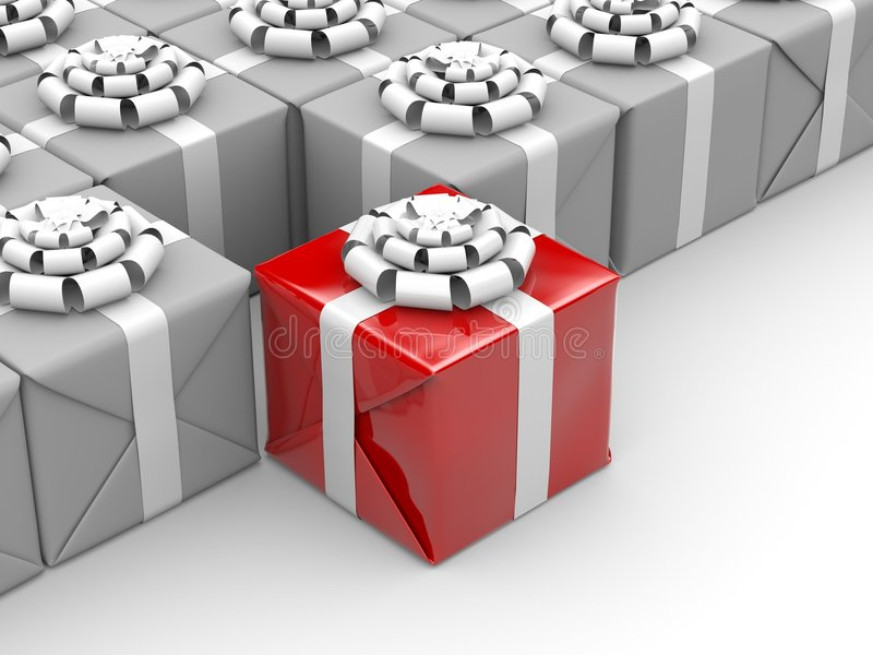 Different gift royalty free illustration