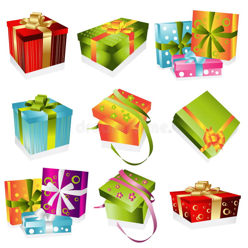 Different gifts illustration