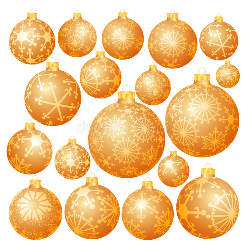 Download Different Golden Balls Royalty Free Stock Image - Image: 11862916