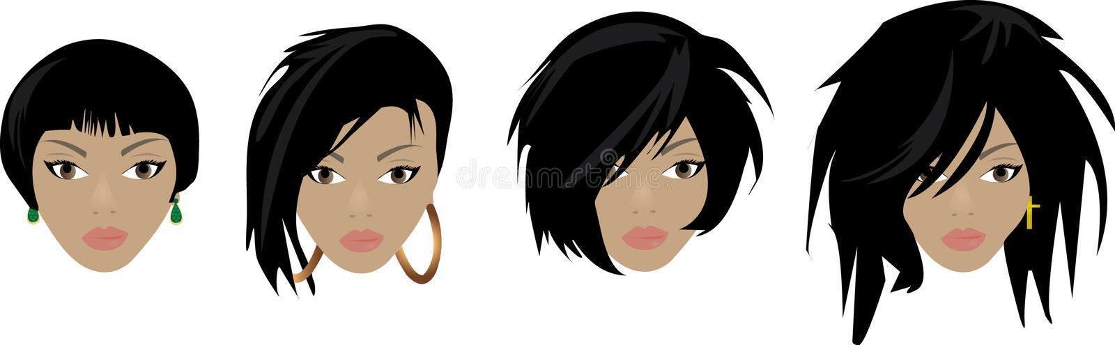 Download Different Hair Styles stock illustration. Illustration of hairstyle - 17866921