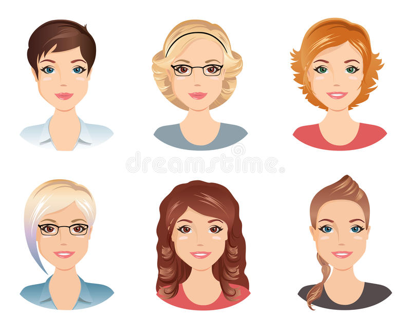 Womens hairstyle clipart