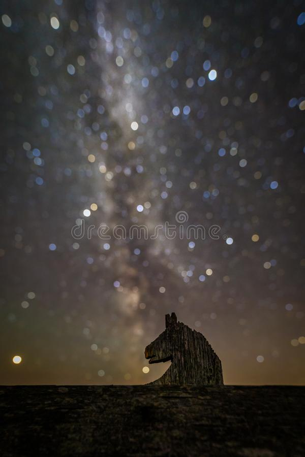 A different horse head nebula royalty free stock photo