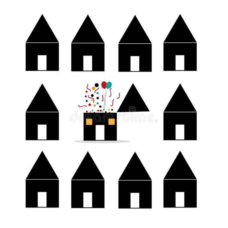 Download Different house stock vector. Image of ideas, construction - 33169458