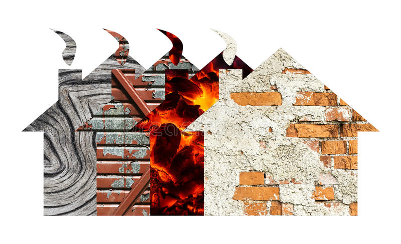 Different houses. Different stacked houses shape concepts stock image