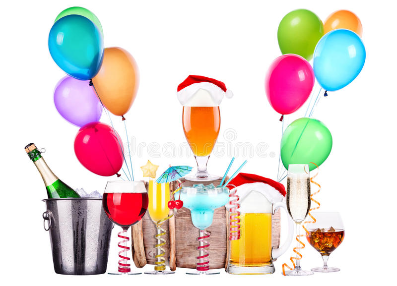 Download Different Images Of Alcohol With Balloons Stock Image - Image: 35546517