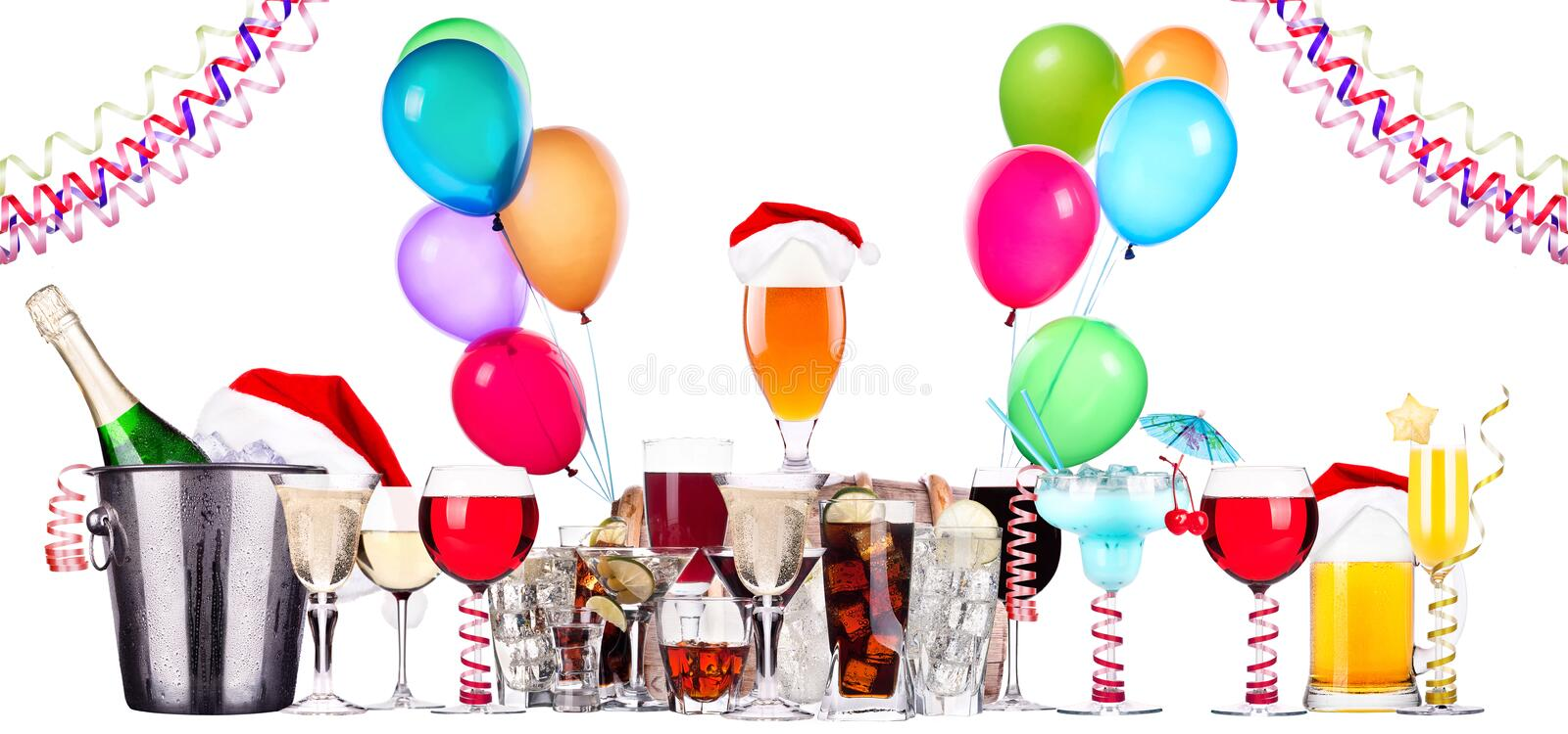 Download Different Images Of Alcohol With Balloons Stock Photo - Image: 35546676
