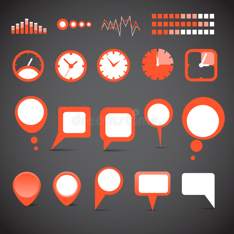 Download Different indicator icons stock vector. Image of chart - 25699620