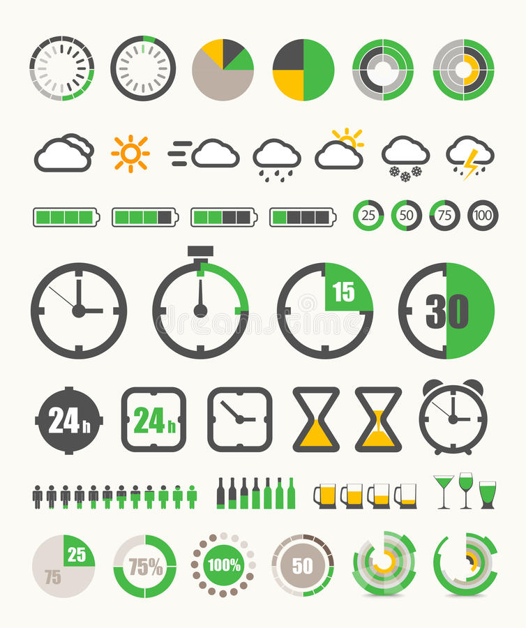 Different indicators collection royalty free illustration