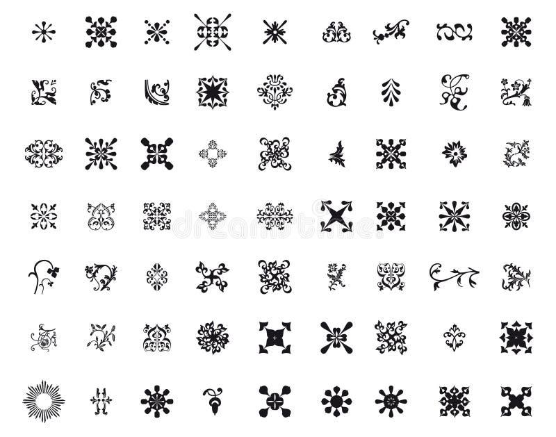 Different kind of arabesque vector illustration