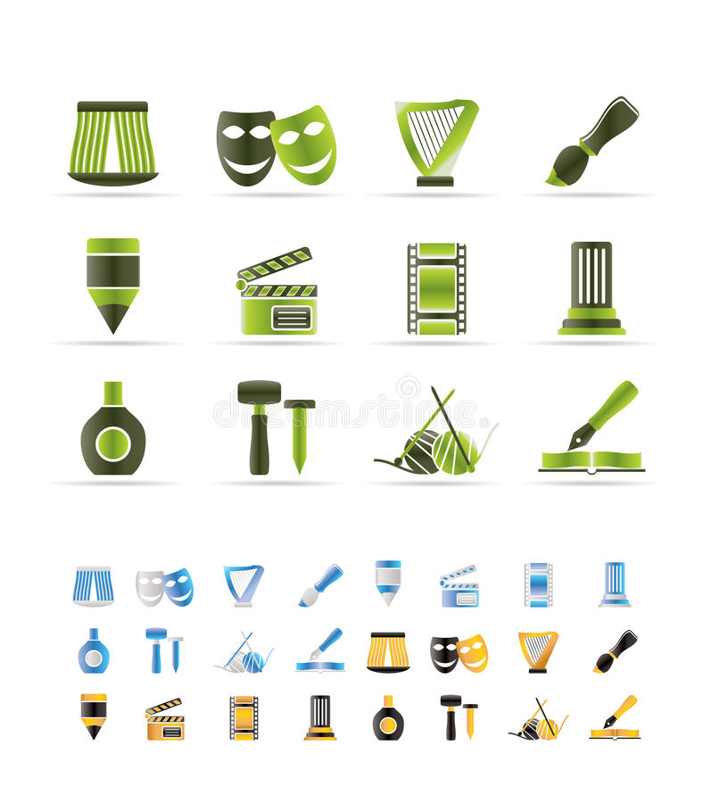 Download Different Kind Of Art Icons Stock Vector - Image: 12919271