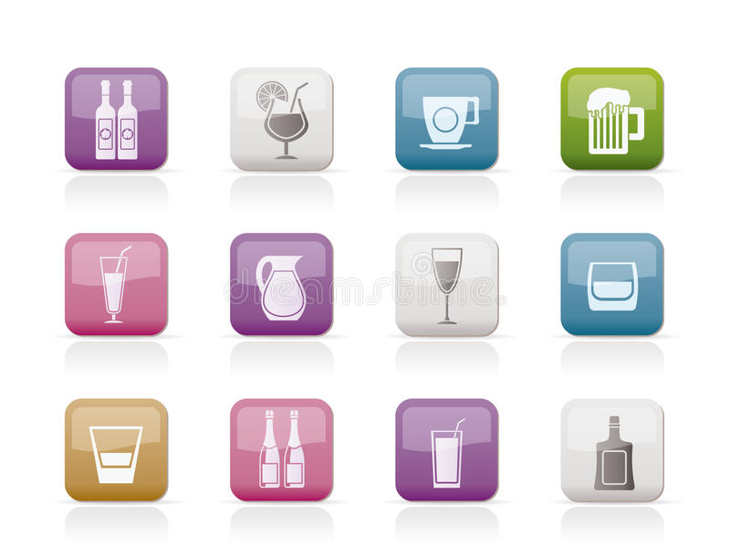 Download Different Kind Of Drink Icons Stock Photo - Image: 18825660