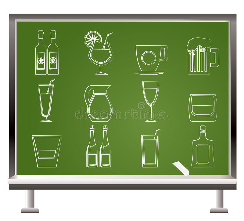 Download Different Kind Of Drink Icons Stock Vector - Image: 19382810