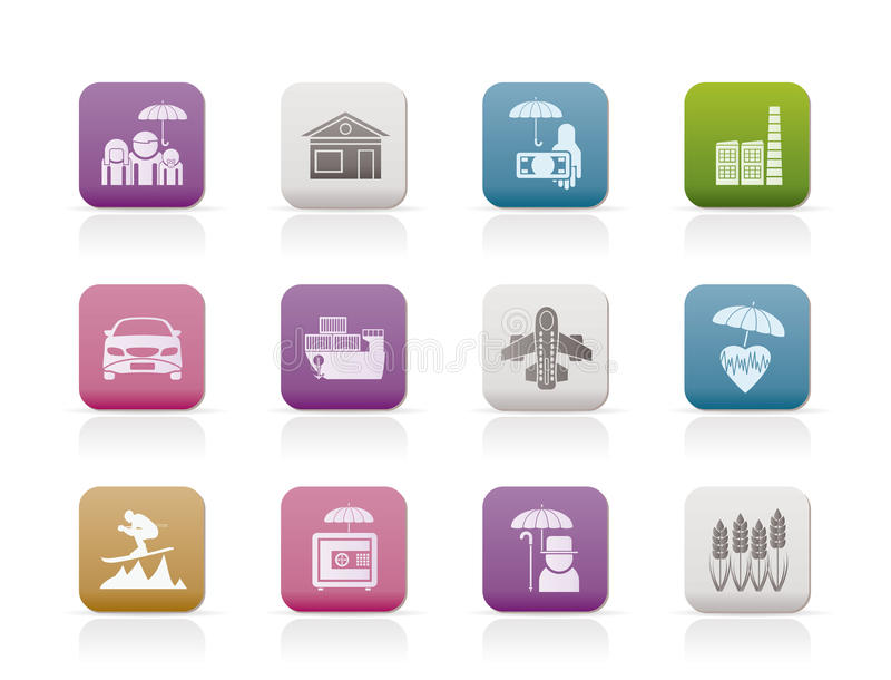 Download Different Kind Of Insurance And Risk Icons Royalty Free Stock Photography - Image: 17604787
