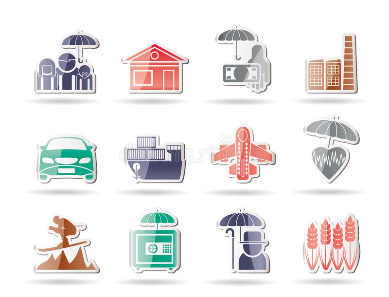 Download Different Kind Of Insurance And Risk Icons Stock Vector - Image: 17915857
