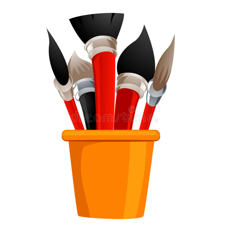 Different kind of Paintbrush vector illustration