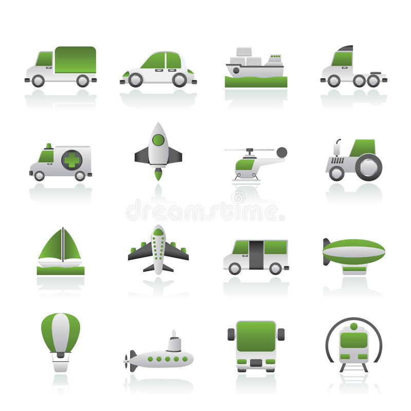 Download Different Kind Of Transportation Icons Royalty Free Stock Image - Image: 26361106