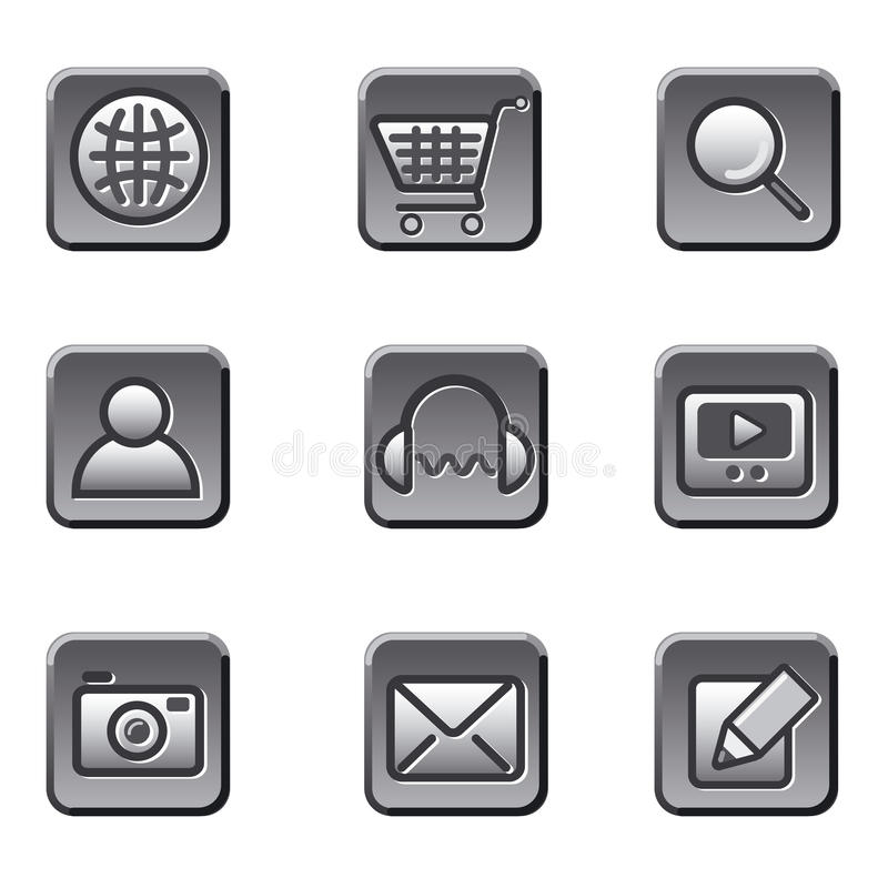Download Website icon set stock illustration. Image of video, globe - 29785959
