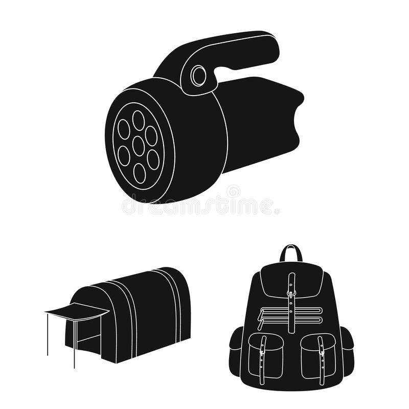 Different kinds of tents black icons in set collection for design. Temporary shelter and housing vector symbol stock web. Different kinds of tents black icons in vector illustration