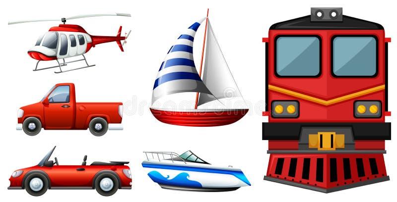 Different kinds of transportations. Illustration royalty free illustration