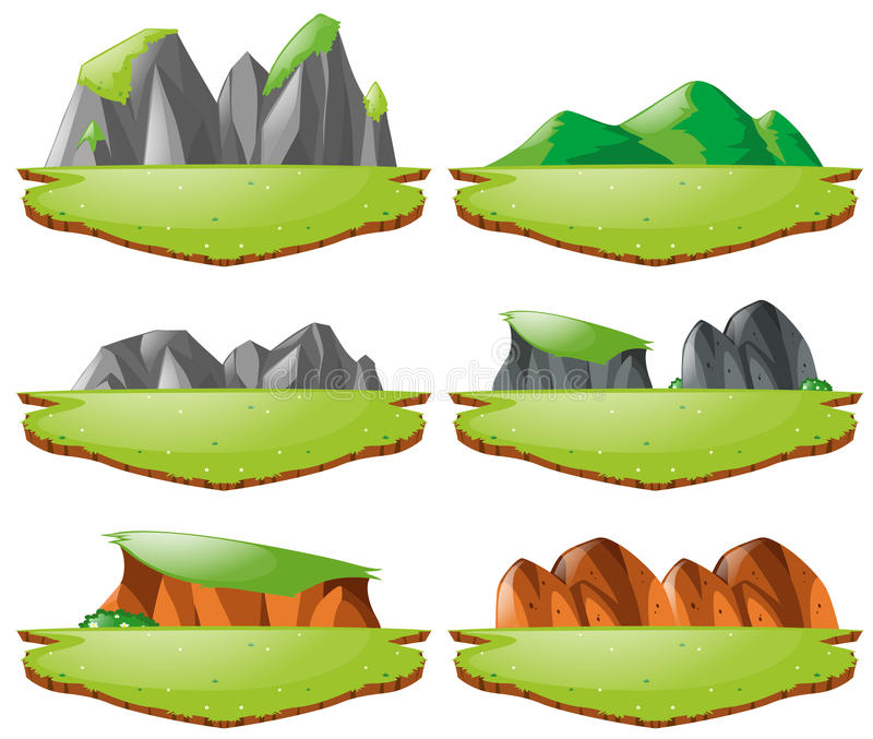 different landforms for plains and mountains stock vector rh dreamstime com landforms clipart types of landforms clipart