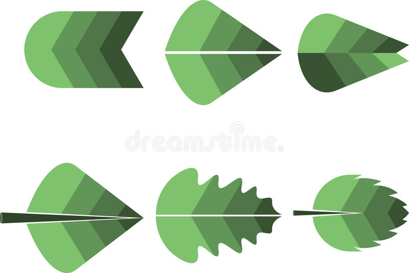 Different leafs logo stock illustration