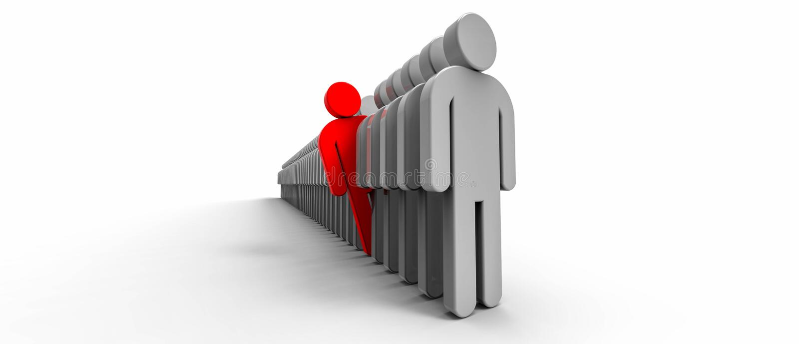Stand out (be different) stock illustration