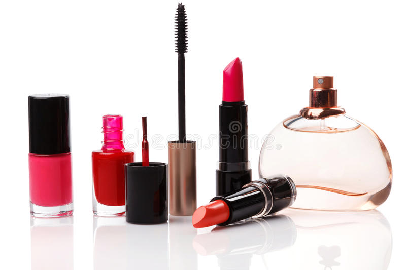 Different make-up products royalty free stock photography