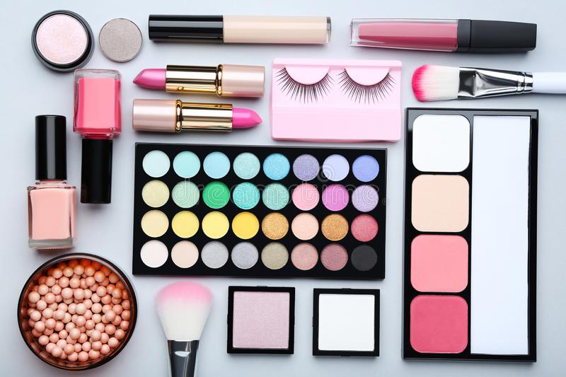 Different makeup cosmetics royalty free stock photo