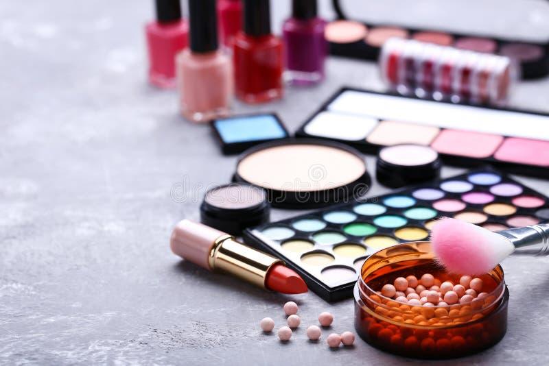 Different makeup cosmetics stock image