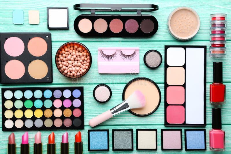 Different makeup cosmetics stock photo