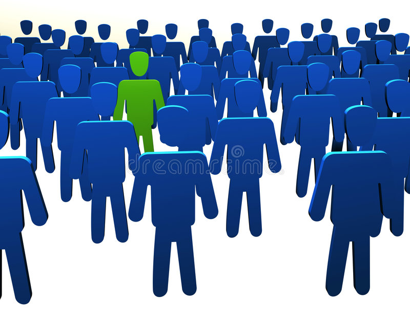 Different man, special people stock illustration