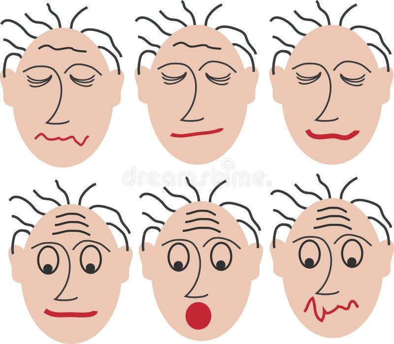 different mimics vector illustration