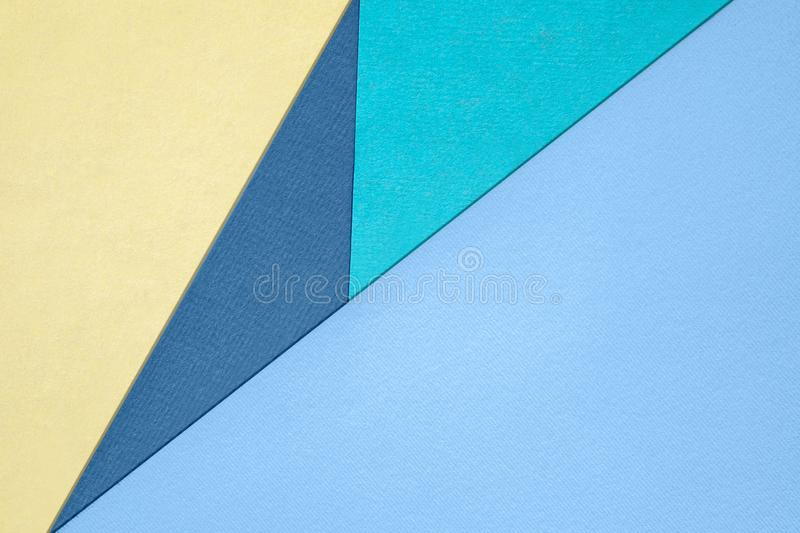 Different pastel colored paper backgrounds with place for text. Abstract different pastel colored paper backgrounds with place for text. Diagonal geometric royalty free stock photography