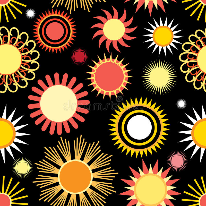Different pattern of sun stock illustration