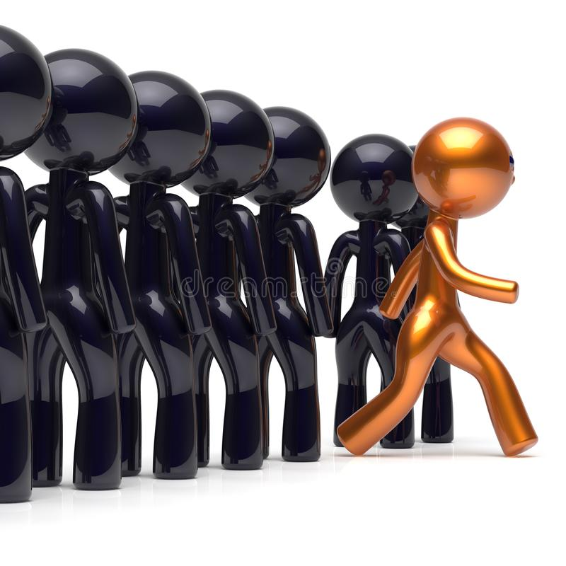 Different people be original individuality character crowd men stock illustration
