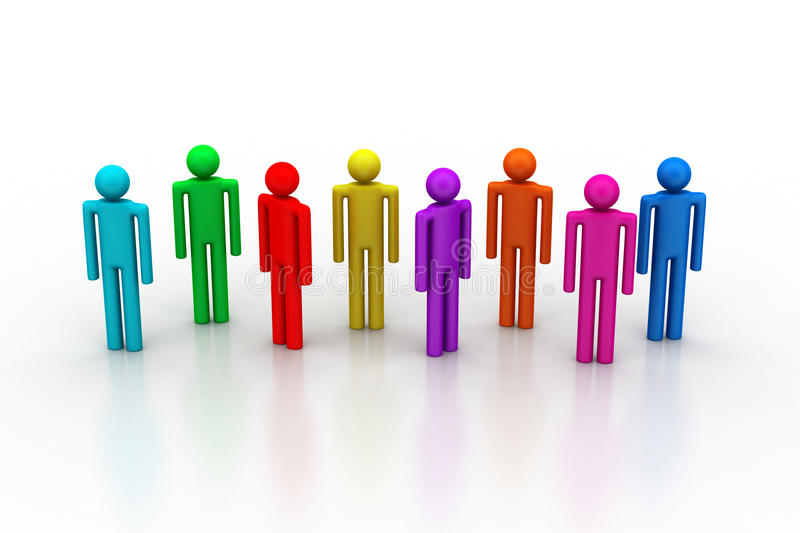 Download Different Peoples In A Team Stock Illustration - Illustration: 42491886