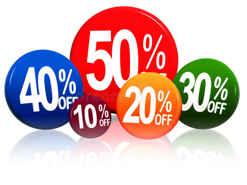 Download Different Percentages In Color Circles Stock Photo - Image: 24770500