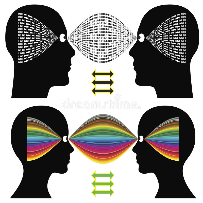 Download Different perception stock illustration. Image of male - 31331880