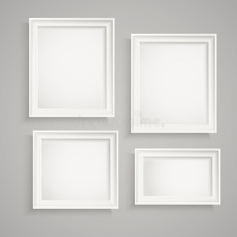 Different picture frames on the wall vector illustration