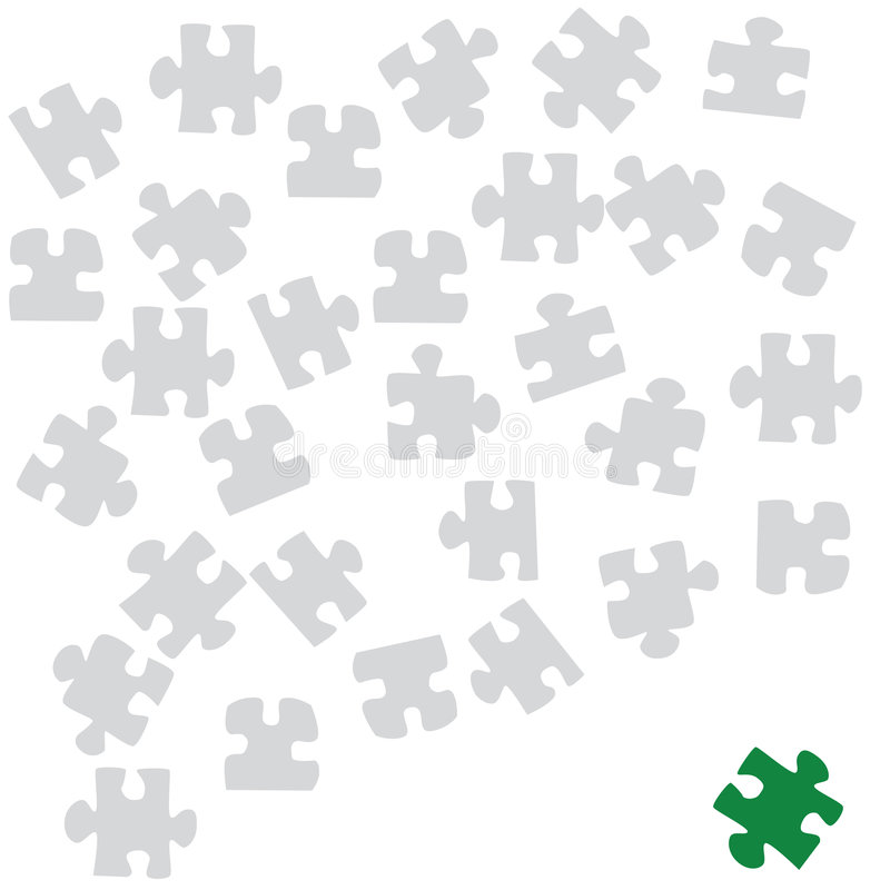 Download Different piece stock vector. Image of piece, isolated - 5489658