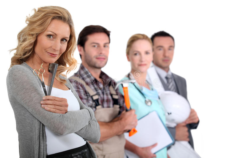 Different professions stock photo