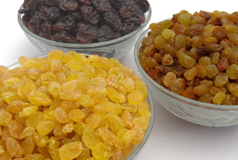 Different raisins stock image