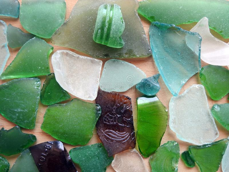 Colorful glass pieces, can use as background stock photography